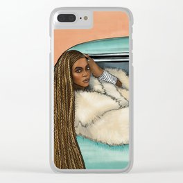 Bey Formation Car Illustration Clear iPhone Case