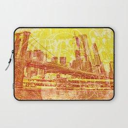 big yellow apple Laptop Sleeve