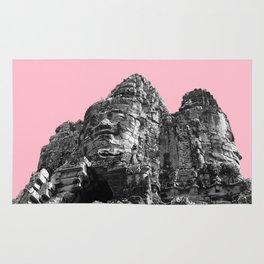 Part of Angkor Wat with pink Rug