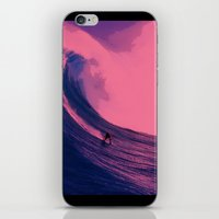 surfing iPhone & iPod Skins featuring Surfing  by The Squatcher