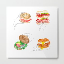 bagels are bae Metal Print