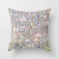 holographic Throw Pillows featuring To Love Beauty Is To See Light (Crystal Prism Abstract) by soaring anchor designs