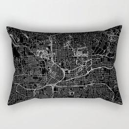 Atlanta Black Map Rectangular Pillow