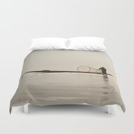 Inle Lake Myanmar Duvet Cover
