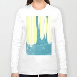 water&yellow stripe Long Sleeve T-shirt