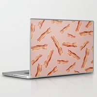 bacon Laptop & iPad Skins featuring Bacon! by Danielle Davis