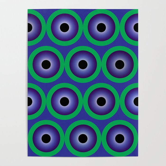 Highlighted Purple Circles Poster