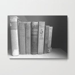 Old Worn Books Metal Print