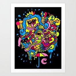 Parrot-Island!! Art Print