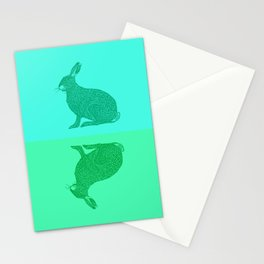 Spring Hares Stationery Cards