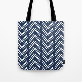 Stitched Arrows in Navy Tote Bag