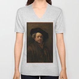 Rembrandt van Rijn - Self-portrait Unisex V-Neck