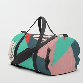 abstract paper collage Duffle Bag