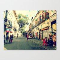 rio de janeiro Canvas Prints featuring Street - Rio de Janeiro by m.ornelas