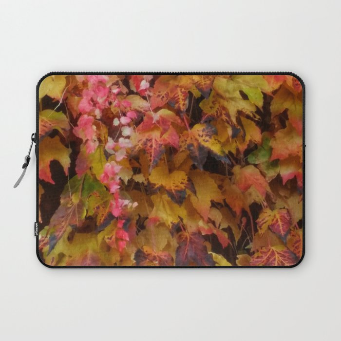 Red and Yellow Ivy Laptop Sleeve