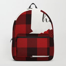 Connecticut is Home - Buffalo Check Plaid Backpack