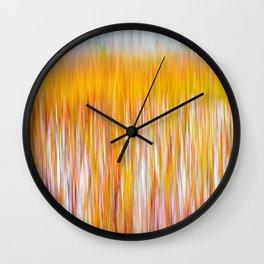 Fire Reeds Wall Clock