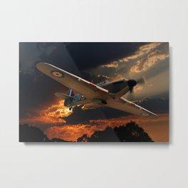 A Fighter Plane Returns Home Metal Print