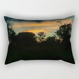 Pale Orange Sunset Rectangular Pillow
