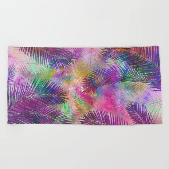 Palm leaves Beach Towel