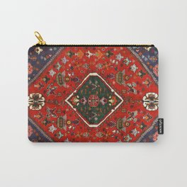 Red & Blue Vintage Bereber Moroccan Bohemian Artwork. Carry-All Pouch