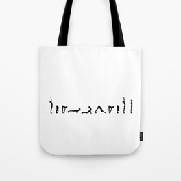Surya Namaskara in Noir Tote Bag