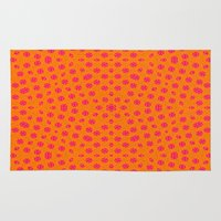orange pattern Area & Throw Rugs featuring orange Pattern by LoRo  Art & Pictures