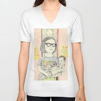 ghost world V-neck T-shirts featuring ghost world by withapencilinhand