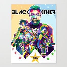 Blak Panther Series In Pop Art Canvas Print
