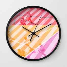 pedestrian pathway color Wall Clock