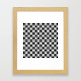 Simple checkerboard background Framed Art Print
