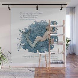 Mermaid swimming in the ocean Wall Mural