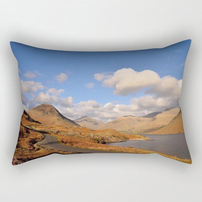 wastwater lake cumbria england Rectangular Pillow