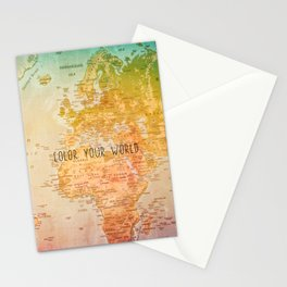 Color your World Stationery Cards