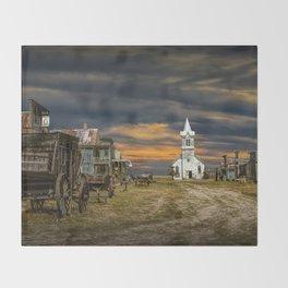 Western 1880 Town Throw Blanket