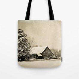 Winter Barn Tote Bag