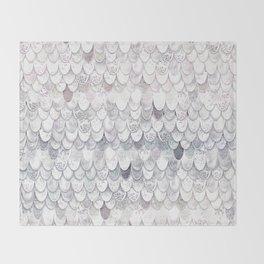 MAGIC MERMAID WHITE Throw Blanket