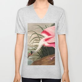 Tropical Exotic Fantasy Bird Landscape Unisex V-Neck