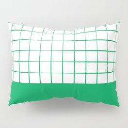 Green Grid Pillow Sham