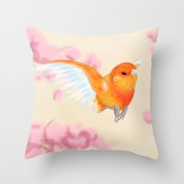 Red Canary Throw Pillow