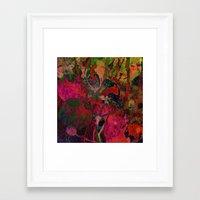 vintage floral Framed Art Prints featuring vintage floral by clemm