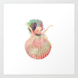 Shell Fairy Art Print
