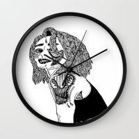 doll Wall Clocks featuring Doll by Kat Leimbach