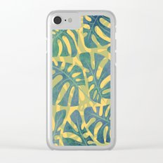 Monstera Maze. Clear iPhone Case