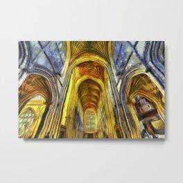 Bath Abbey Van Gogh Metal Print