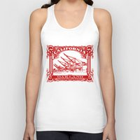 oakland Tank Tops featuring Oakland Classic Red by Kris alan apparel