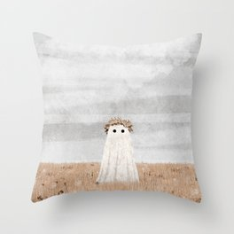 There's a Ghost in the Meadow Throw Pillow