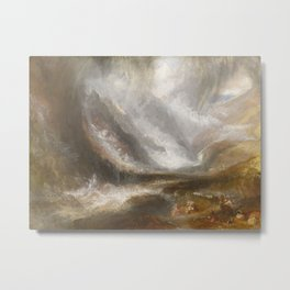 William Turner - Snowstorm, Avalanche, and Thunderstorm Metal Print