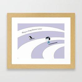 Bluey is a long distance runner Framed Art Print
