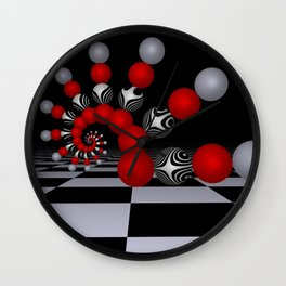 red white black -1- Wall Clock